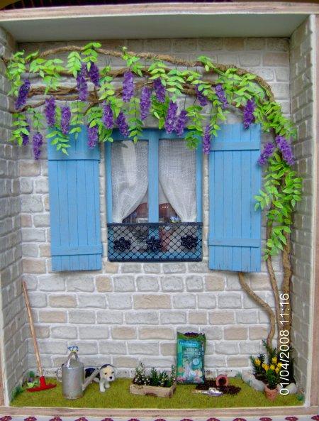 vitrine façade-glycine