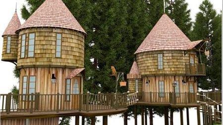 Des maisons dans les arbres pour les enfants de J.K Rowling !