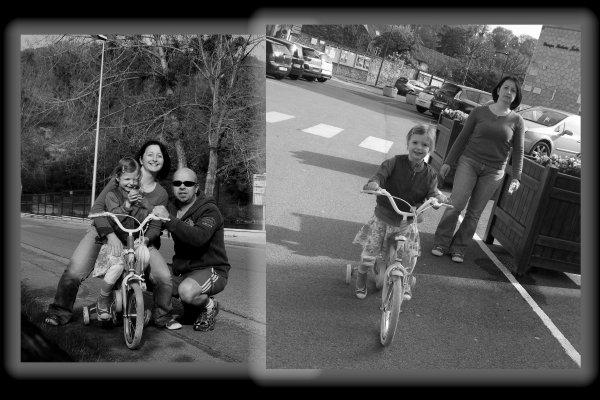 Vélo Bleu - blanc - rouge ...