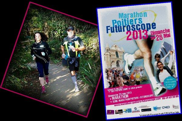 25 et 26 Mai 2013 : marathon de Poitiers.