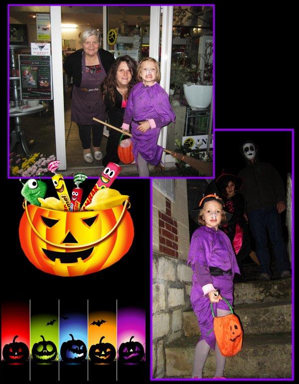Halloween, on a ramassé des bonbons,