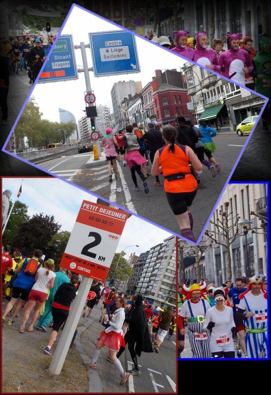 Beer Lover's Marathon de Liège 2016 : la course km 0 à 7