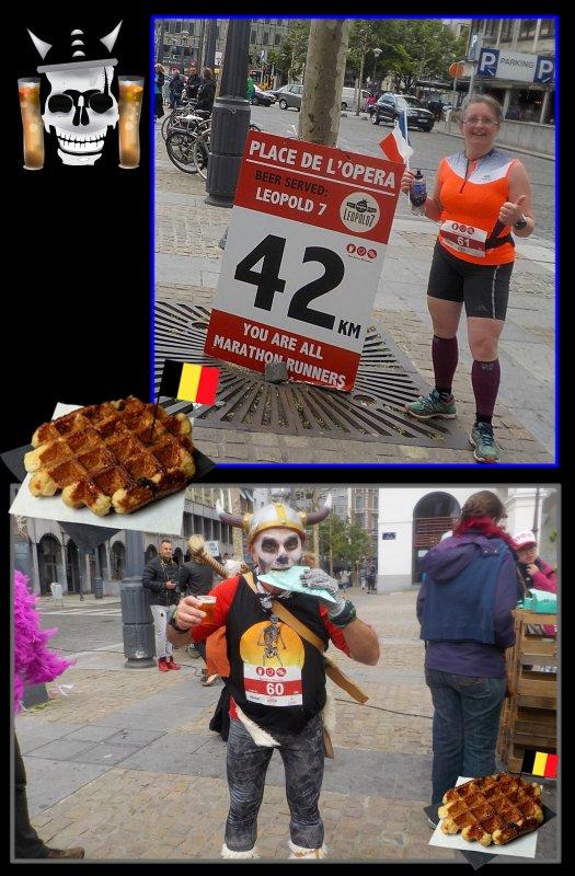 Beer Lover's Marathon de Liège 2016 : la course km 38 à 42, 195... et fin