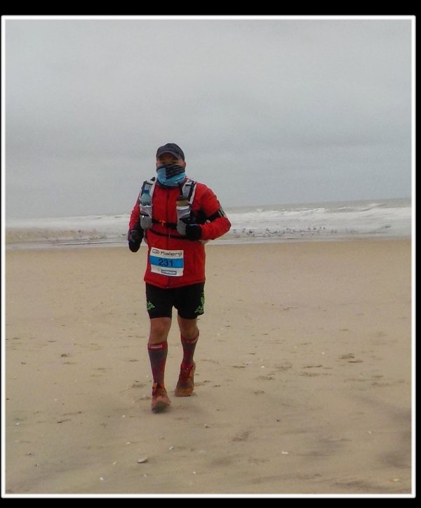 Marathon du Touquet Paris Plage version trail. poursuite