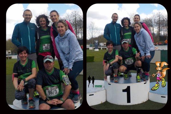 L'alphabet des marathoniens en relais de Chantilly.