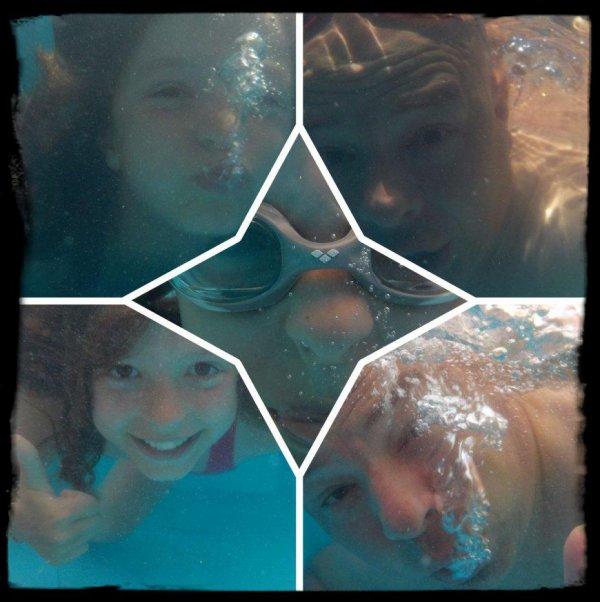 Les bulles au fond du bassin !