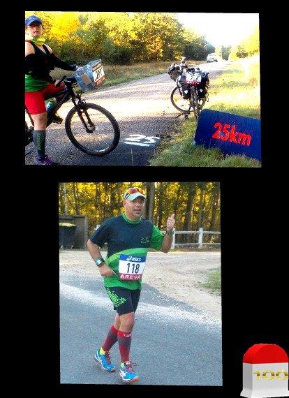 100 km de Sologne 2015  : km 20 au km 40  ...