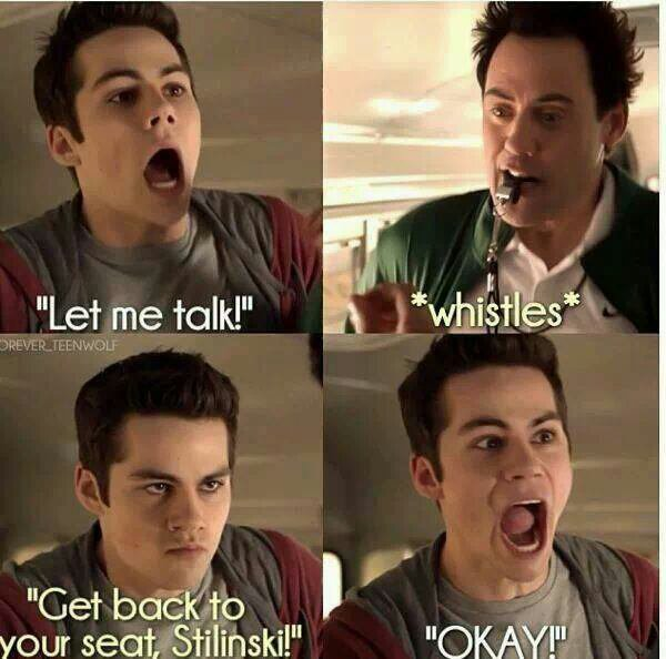 Funny moment of Stiles