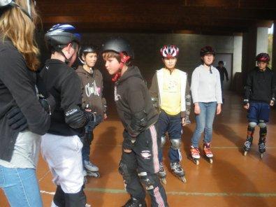 un super stage de roller au collège Ste Therese de Couilly