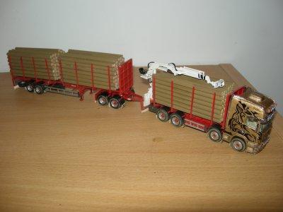 1/87 - Scania R730 Topline 8/4 + sr 2 ess avec dolly 2 ess