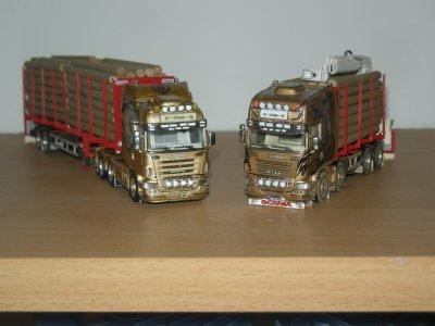 1/87 - Scania R730 Topline 8/4 + Scania R620 Highline 6/4