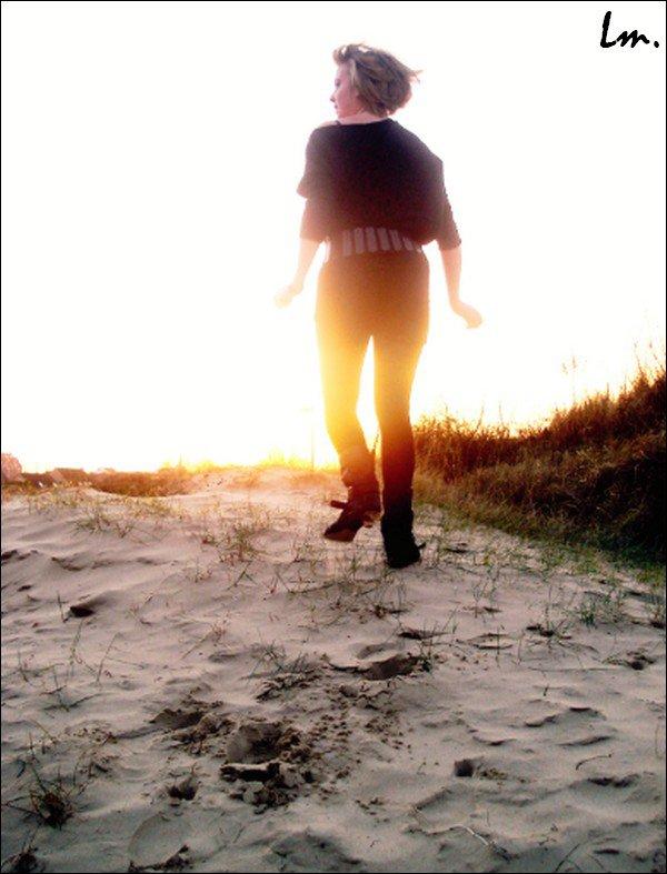 Dans les dunes de Leffrinckoucke. Mélanie D.