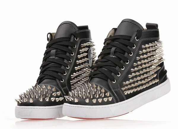 christian louboutin men shoes,cool nailed leather shoes for guy,male flat shoes
