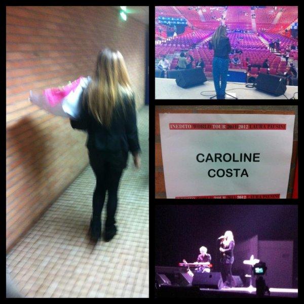 Caroline première partie Laura Pausini .