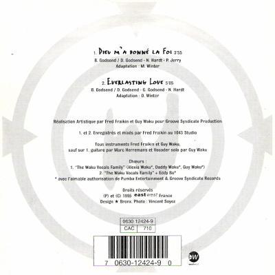 """CD Single """"Dieu M'A Donné La Foi"""" 1995 (2ème Pressage Réédition)"""