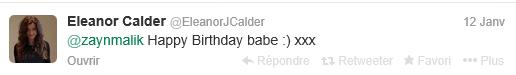 Anniversaire des Boys - Eleanor Calder sur Twitter