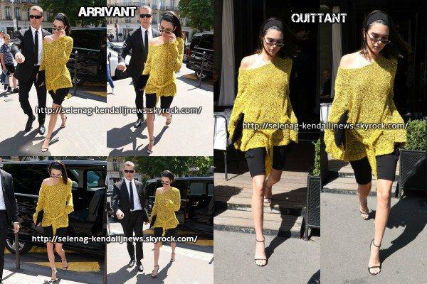 3 juillet : troisième journée à Paris pour Kendall