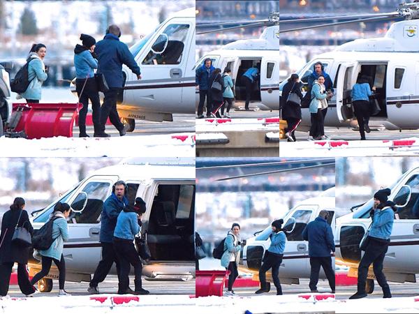 7 janvier 2018 : Selena Gomez dans les rues de New York et faisant un tour d'hélicoptère