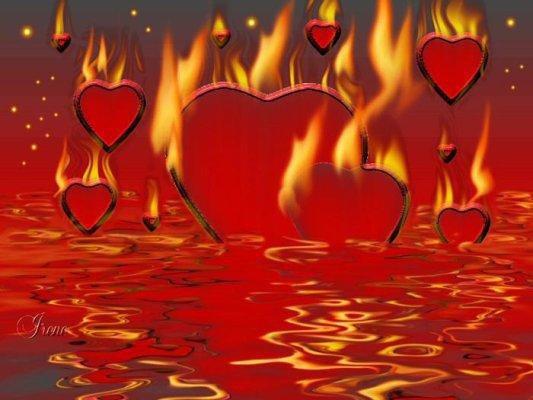 l'Amour brûlé par la haine se meurt