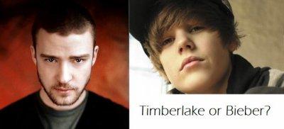 Cili asht i preferuari juaj..? Justin Timberlake apo Justin Bieber..????
