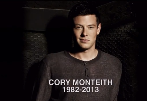 Cory Monteith is dead is 2013