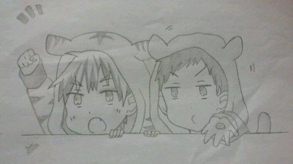 Kagami et Aomine Chibi