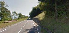 La route entre Evian et Villeneuve fermée