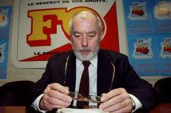 Marc Blondel, ex-secrétaire de Force ouvrière, est décédé.