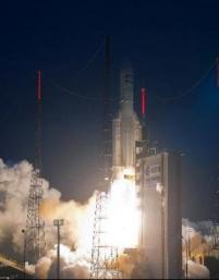 Kourou: Lancement réussi de deux satellites de télécoms par une Ariane 5