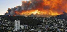 Gigantesque incendie à Valparaiso