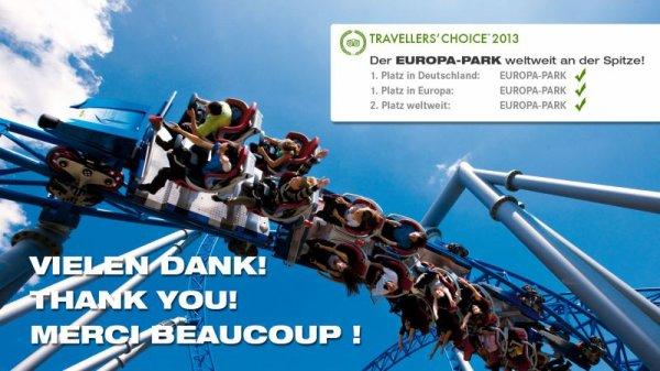 Europa Park, élu Premier parc d'attraction Européen