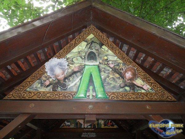 Travaux de l'attraction Arthur & les Minimoys