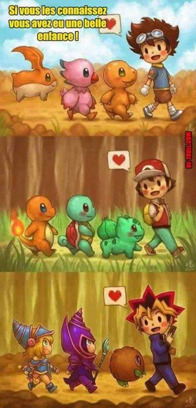 Digimon / Pokémon / Yu-Gi-Oh  Trop bien X3