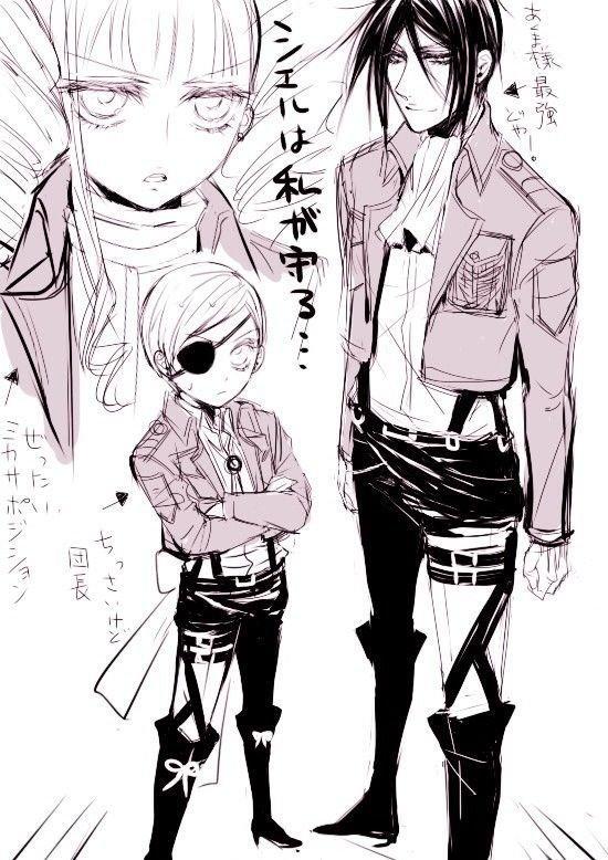 Même dans Black Butler sa cosplay SNK u.u :3