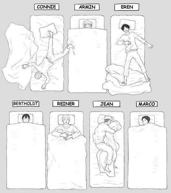Je dort comme Jean , mais je me réveil comme Eren et vous ? XD
