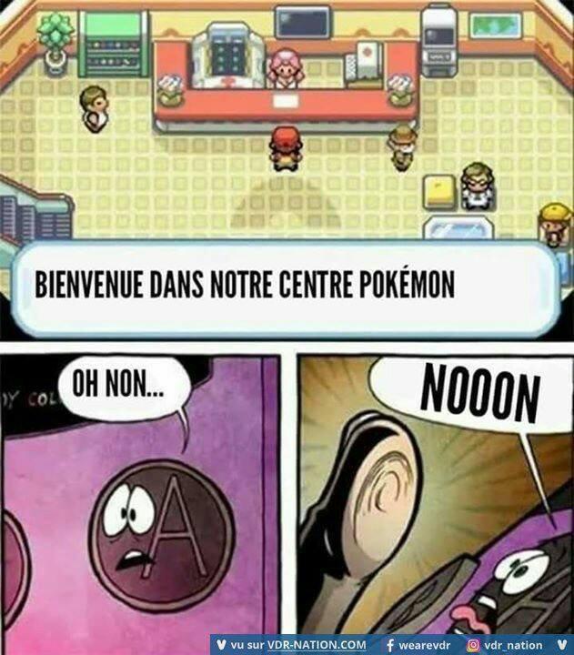 Tous joueur de Pokémon comprendra  xD Quand tu spam et que sa te relance la discu et tous :''3