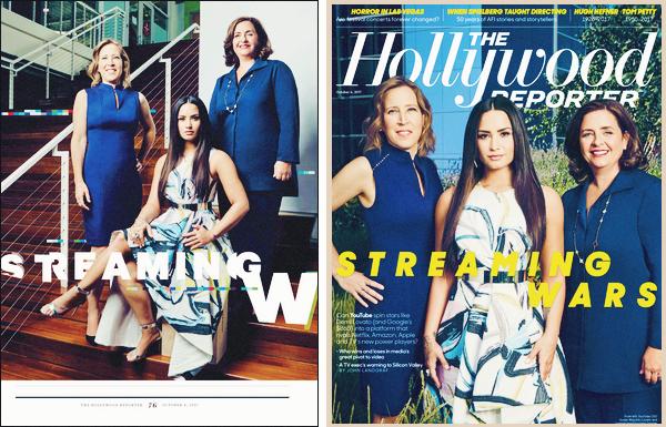COUVERTURE | 10 / 2017 - Découvrez Demi Lovato en couverture de « The Hollywood Reporter».