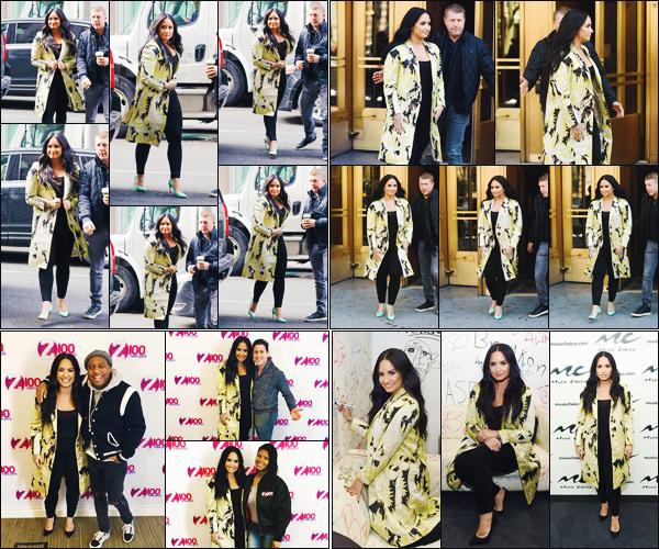 22/03/18 : Notre Demetria D. Lovato a été photographié alors qu'elle était chez  « Z100 radio »  puis chez Music Choice. C'est à New York que notre D. a encore passé cette journée chargée. Entre sortie d'hôtel et petite visite, elle n'arrête jamais !  • Donne-moi aussi ton avis.