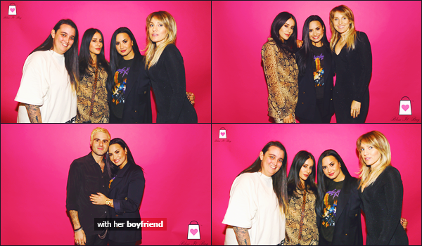 15/12/18 : Demi D. Lovato a été photographiée, à la soirée de lancement de « Bless It Bag »  organisé à Beverly Hills, CA  !  D. était très souriante encore une fois pour ce petit événement, elle était accompagnée de son petit-ami et à l'air vraiment heureuse et épanouie. • top !