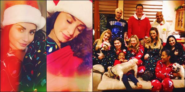 25/12/18 : Demi Lovato publié de nombreuses photos, d'elle et sa famille pour les fêtes de Noël  qu'elle a passé avec eux !  Demi semble de plus en plus souriante et épanouie bien qu'elle esquive toujours les paparazzis. D'après son insta-story, elle était heureuse • un joli top !