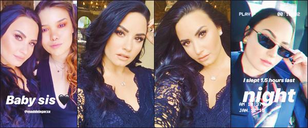 .     janvier 2019 • instagram's story.     Voici les dernières photographies que Demi a partagé dans sa story instagram @ddlovato. .
