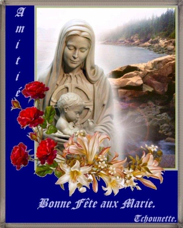 Bonne fête à toutes les Marie bisous