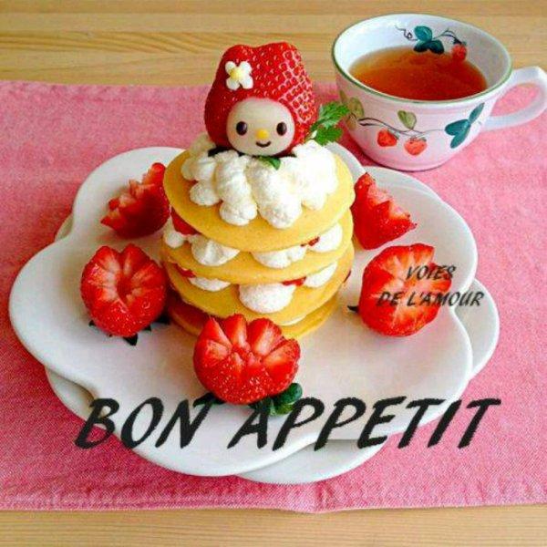 Bonne journée et bon appétit bisous