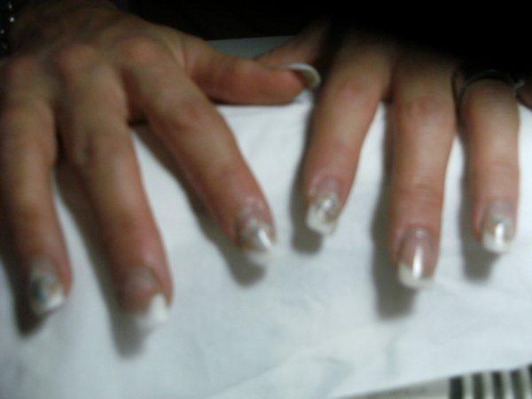 Avant les mains d'Audrey.