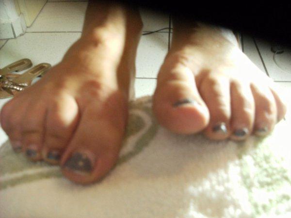 Avant les pieds d'Audrey
