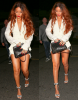 Candids/ 4 juillet/ Rihanna au restaurant 'Giorgio Baldi'