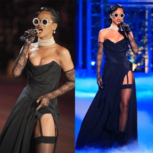 Sondage Rihanna: Victoria's Secret Fashion Show. Ta tenue/coiffure préférer