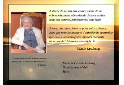 Modèle De Carte De Remerciement Décès Anne Emonts Leroy