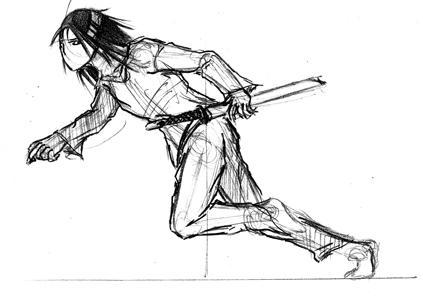 dessin manga en mouvement