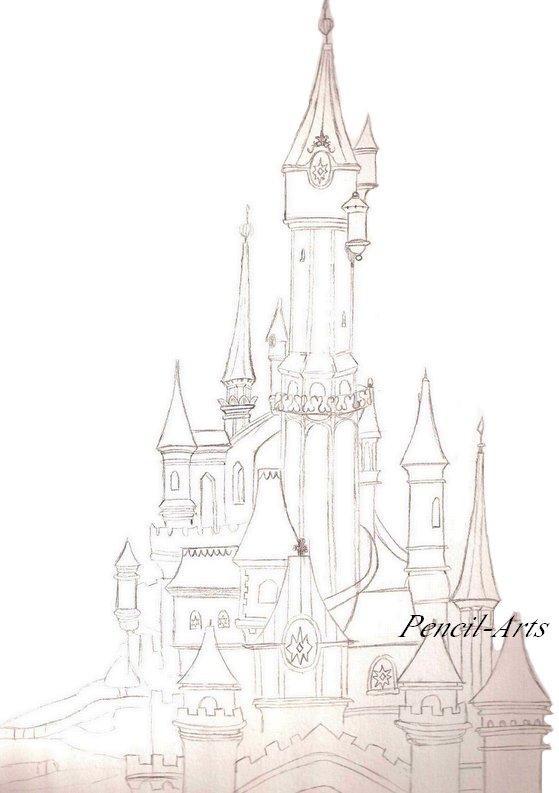 disneyland - Dessin Chateau Disney